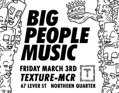 Big People Music Poster (Illustration + Design)