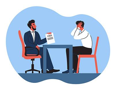 Job loss illustration