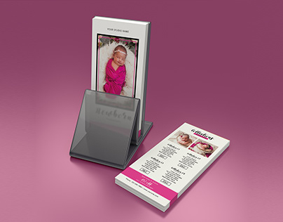 Newborn Photographer Rack Card Template