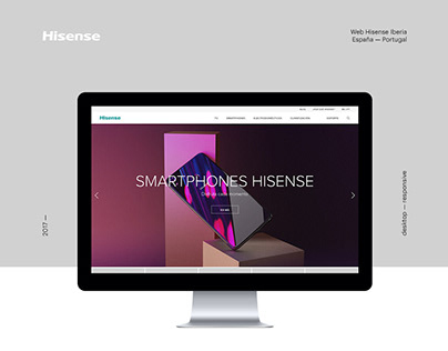 Hisense Spain & Portugal. Web design and development