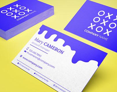FREE colorfill / triplex business card mock-up