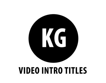 My Video intro Title Designs