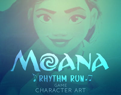 Moana Rhythm Run Game Character Art