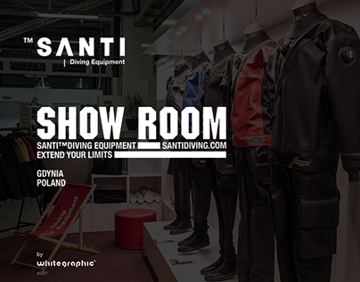 SANTI Diving showroom | whitegraphic