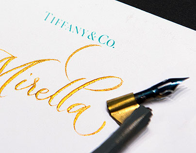 Calligraphy at Tiffany&Co