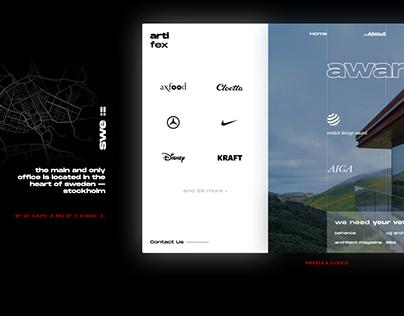 artifex—visualization studio website