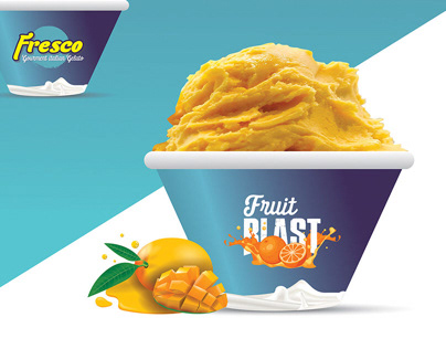 Fresco Gelato Logo and Branding