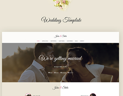 One Page Wedding Template