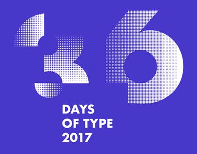36DaysofType 2017. MonoChrome