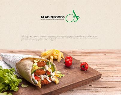 Aladin Foods web design