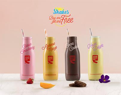 Cafe Coffee Day : Milkshakes