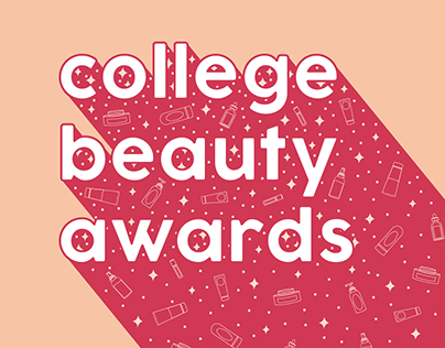 College Beauty Awards Text Graphics