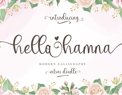 Free Font | hello hamna | modern calligraphy