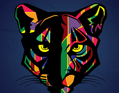 Abstract Art: Panther