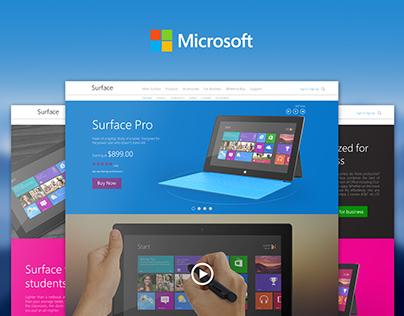 Microsoft Surface Pro (China) | Web Design