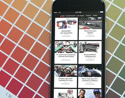 F1 App Design