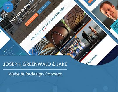Joseph, Greenwalld & Lake Website Redesign Concept