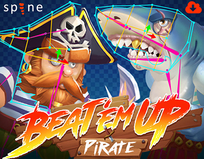 Pirate Beat'em Up - Spine 2D Animation Unity Assets