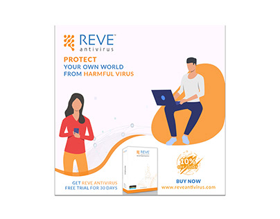 Facebook banner Adds Design For Reve Antivirus.
