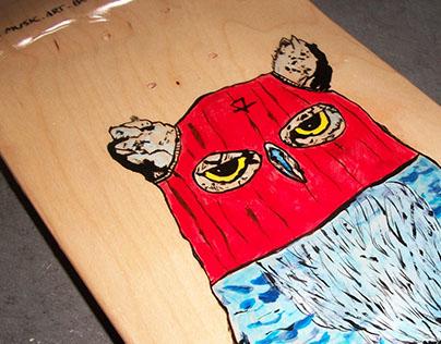 Owl Skate Deck Art