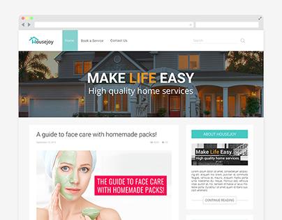 Blog Website Design - Housejoy