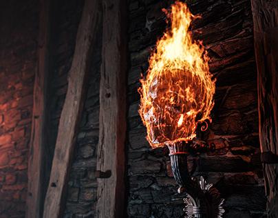 Skull Fire Torch
