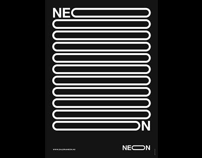 Neon Art Gallery Poster Series