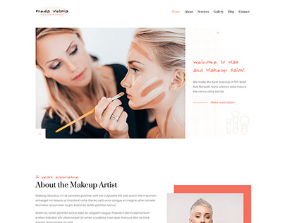 Fredia - Makeup Artist & Hairstylist Template