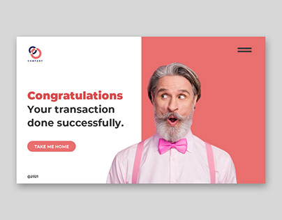 Creative landing pages for web application