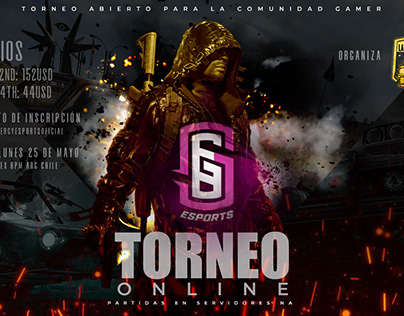 Poster Torneo Online PUBG Synergy Esports
