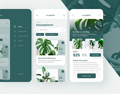 easyplants - application and webdesign