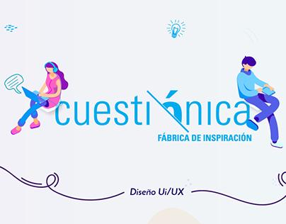 Cuestionica -Website Ui/UX