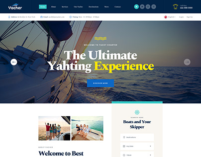 Yacher - Boat & Yacht Charter Services PSD Template