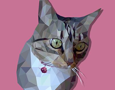 Illustration: Low poly cat