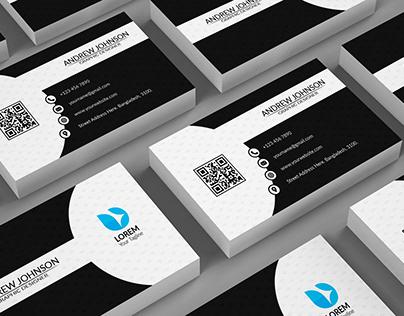BLACK & WHITE| Business Card Design
