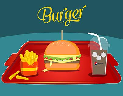 burger motion graphics