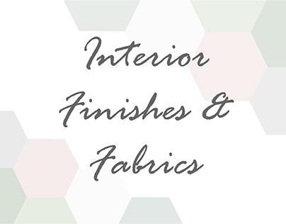 Interior Finishes & Fabrics