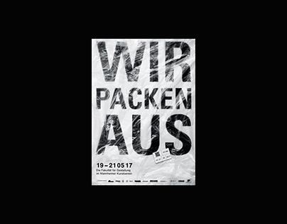 poster design »Werkschau Mannheim 2017«