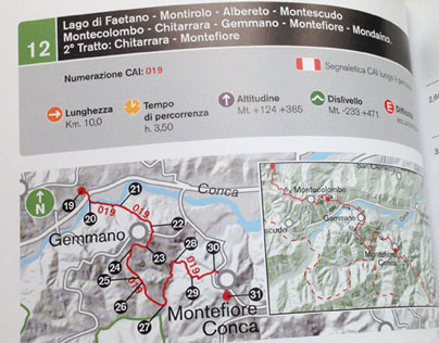 trekking guide, book with maps