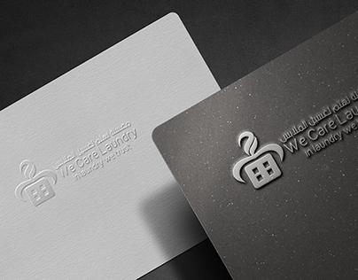 تصميمنا لشعار معسلة نهتم لغسيل الملابس designing a logo