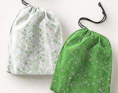 Textile tropical patterns