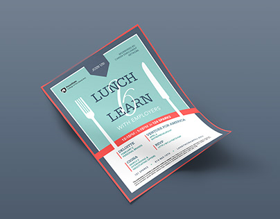 Lunch & Learn Poster Design