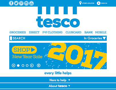 Tesco Rebrand 2016 on Behance