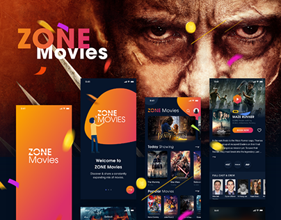 ZONE Movies - Dark mode - iOS UI KIT