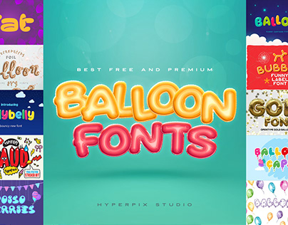 Best Balloon Fonts Collection