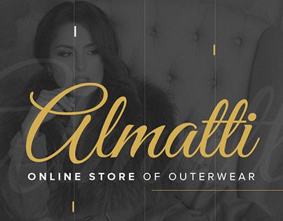 Web design for online store of outerwear Almatti