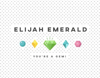 Youtube Banner - Elijah Emerald