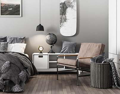 Scandinavian interior apartments in Germany