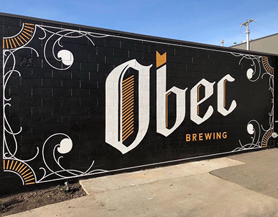 Signage Mural for Obec Brewing