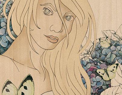 Hydrangea Girl – Artwork